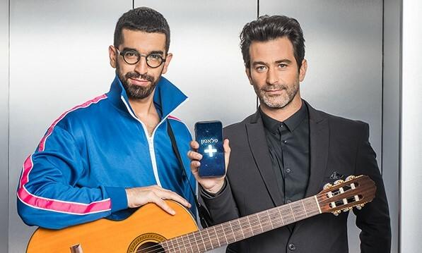 """חנן בן ארי ויהודה לוי בפרסומת לפלאפון -/תמונת יח""""צ"""